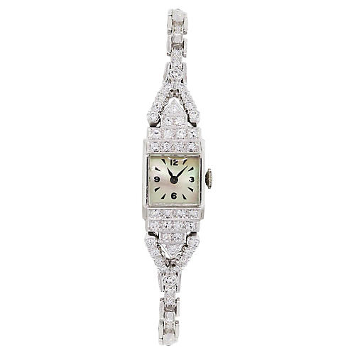 Antique Platinum & Diamond Watch