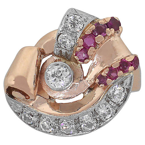 Diamond & Ruby Ring