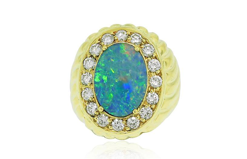18k Yellow Gold Opal Ring