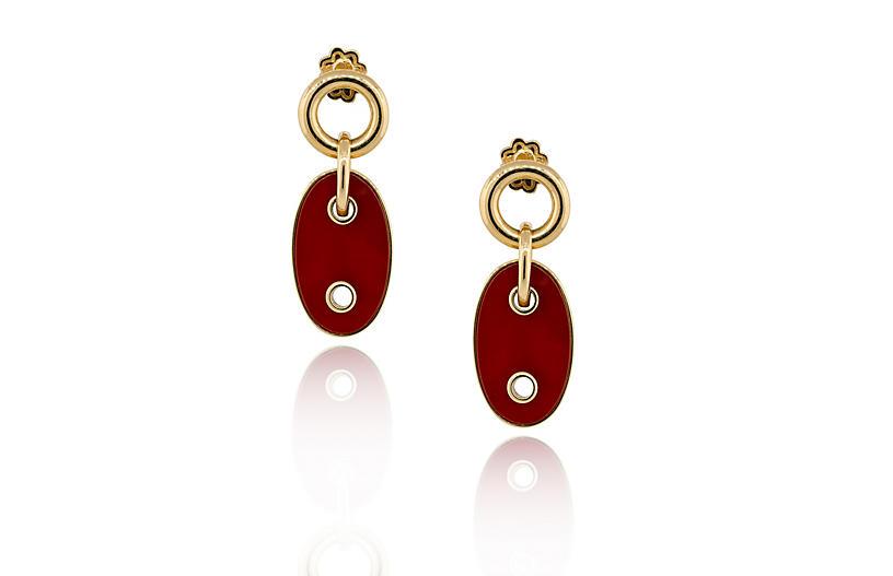 Carnelian Marine Link Earrings