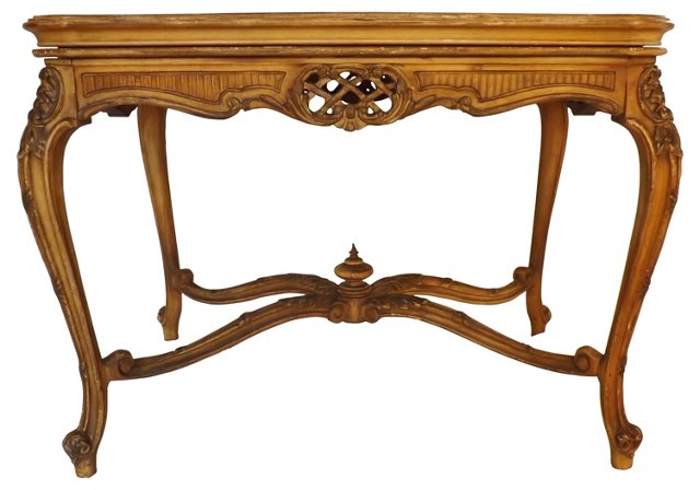 Carved French Tray Table