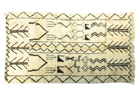 Moroccan Beni Ourain Rug, 10'8