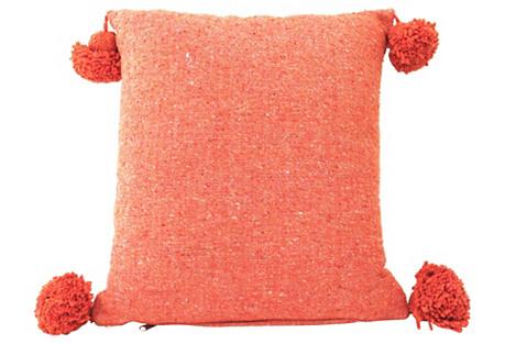 Saffron Moroccan Handwoven Cotton Pillow