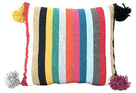 Cotton Stripe Moroccan Pillow