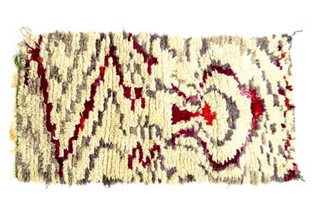 Magenta & Gray Moroccan Rug
