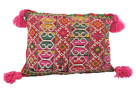 Fuchsia Kilim Moroccan Pillow