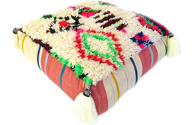 Abstract Tribal Moroccan Pouf