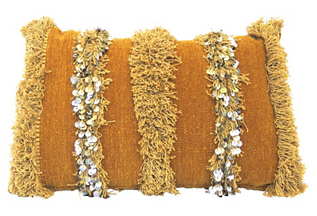 Moroccan Handira Sequin Pillow