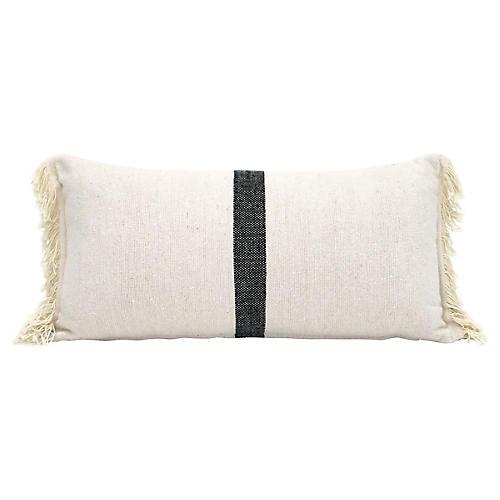 Ivory & Black Cotton Pillow Sham