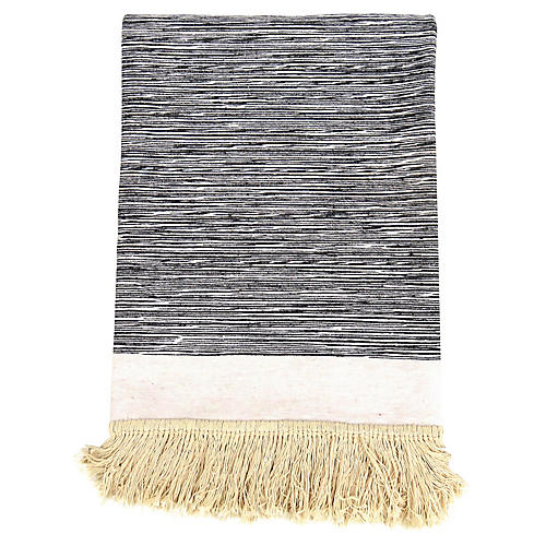 Abstract Cotton Fringe Bedspread