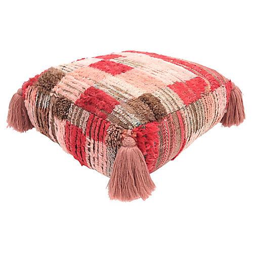 Blush Pink Berber Pouf