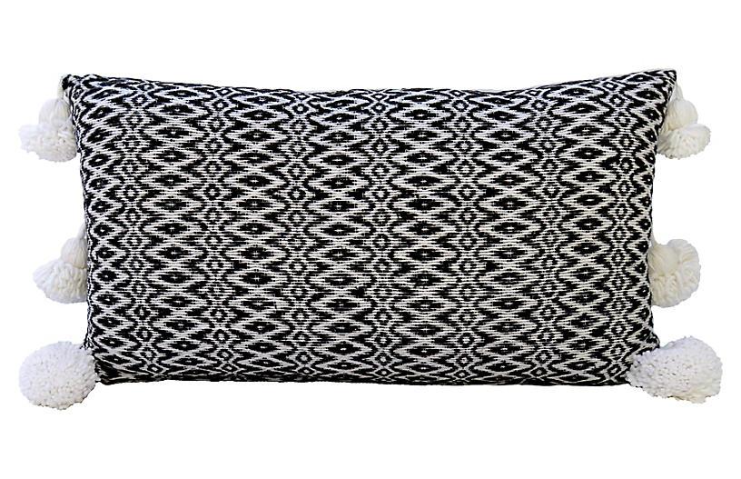 Moroccan Black & White Pillow
