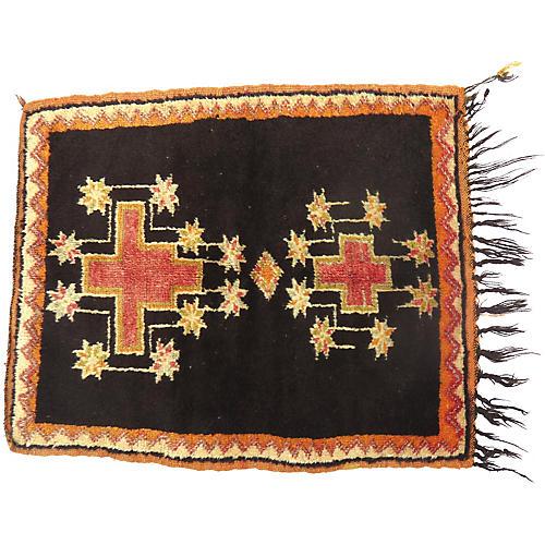"""Moroccan Berber Rug, 2'6"""" x 3'6"""""""