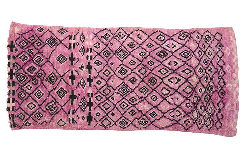 Lavender & Black Boujad Rug, 5'4