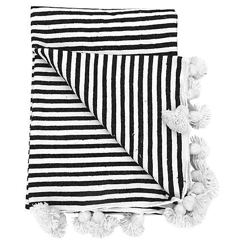 Cote d'Azur Moroccan Blanket
