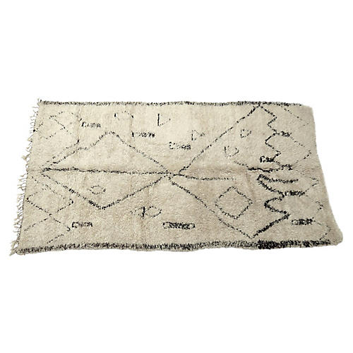 Vintage Abstract Beni Ourain Rug