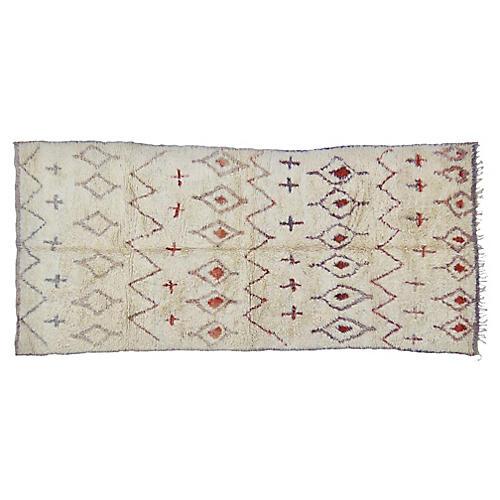 "Moroccan Marmoucha Rug, 5'11"" x 11'3"""