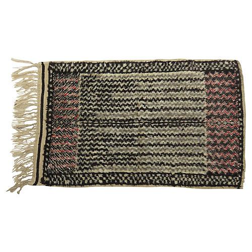 Vintage Talsint Black and Grey Rug