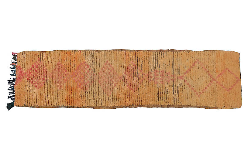 Vintage Apricot and Pink Wool Runner
