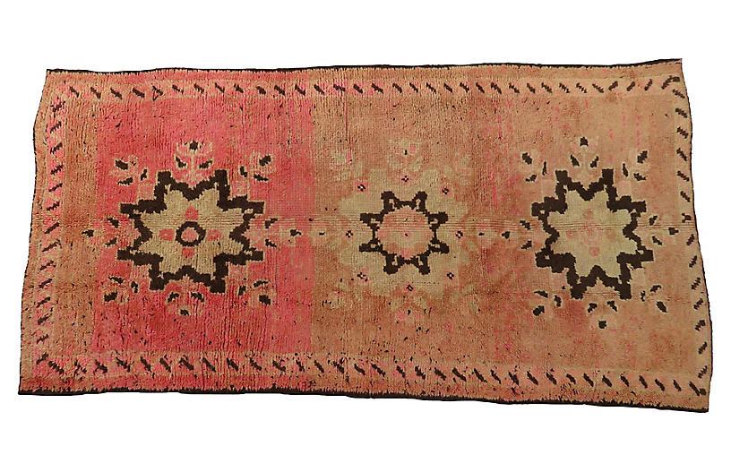 Vintage Pink Boujad Rug 5'5 x 8'11