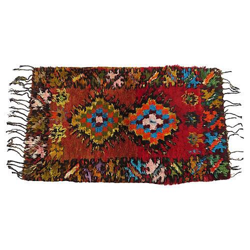 1970's Moroccan Shag Vintage Rug