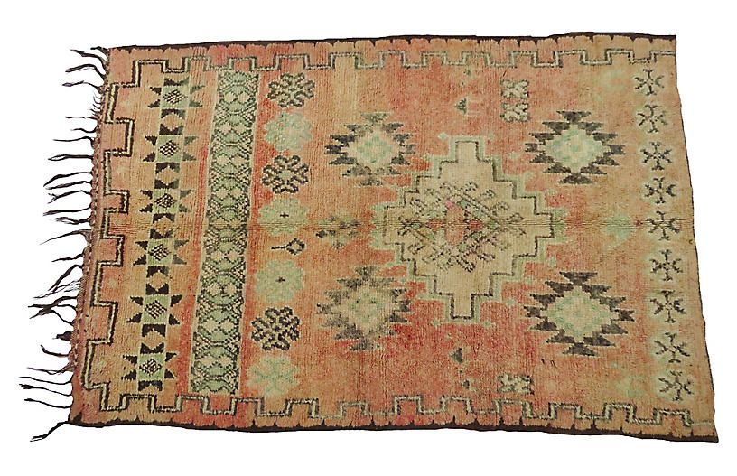 Vintage Tribal Terracotta Rug
