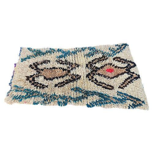 Vintage Abstract Azilal Moroccan Rug