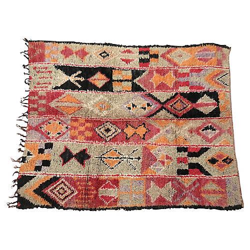 Vintage Tribal Boujad Rug