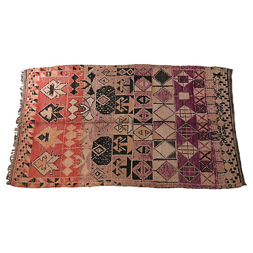 Vintage Moroccan Ait Bouchen Rug