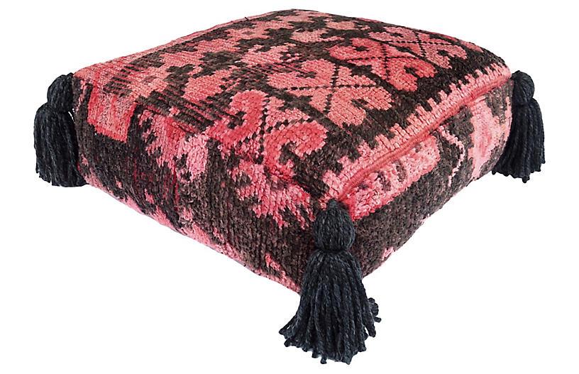 Berber Vintage Teapot Wool Pouf