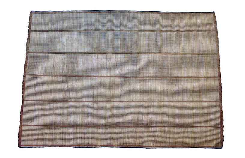 Reed and Leather Tuareg Mat
