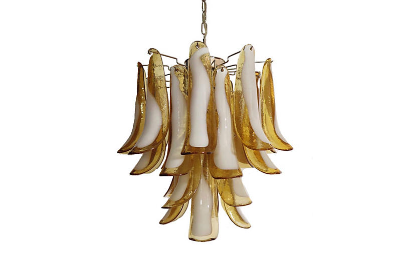 Vintage Murano Glass Chandeliers