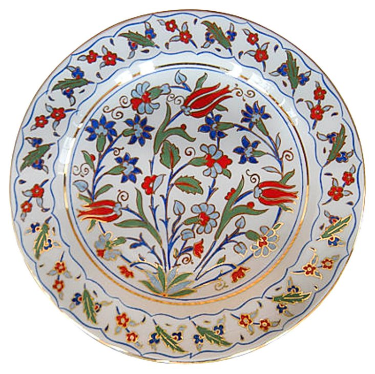 Turkish Hand-Painted Plate