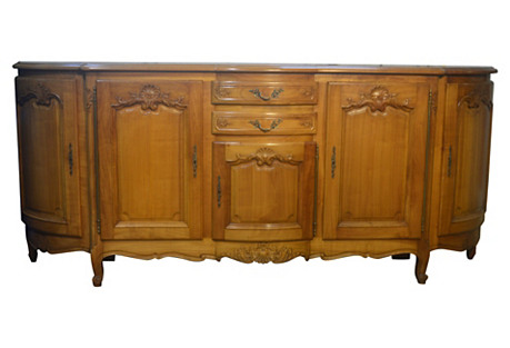 French Louis XV-Style Cherry Enfilade