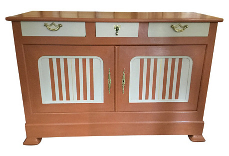 Painted Louis-Philippe Cabinet
