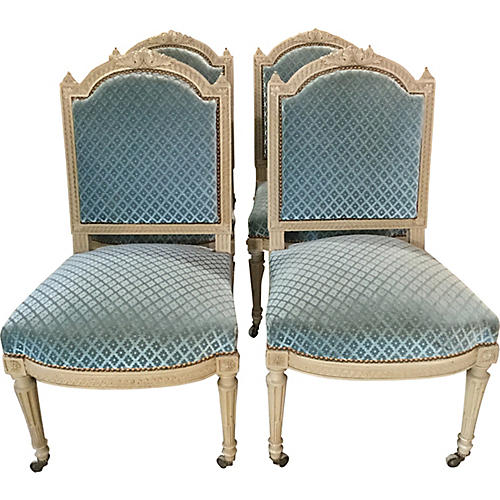 French Louis XVI-Style Painted Chairs