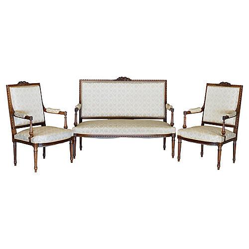 Louis XVI-Style Salon Set