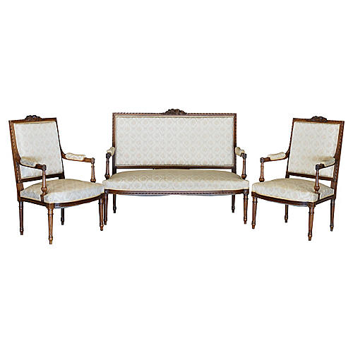 Louis XVI-Style Salon Set