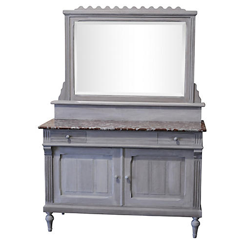 French Marble-Top Cabinet