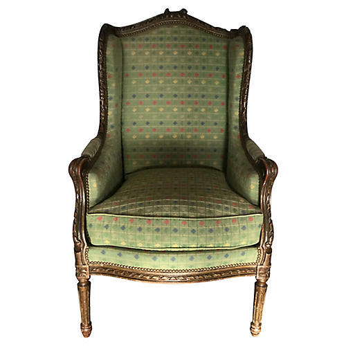 French Louis XVI-Style Bergère