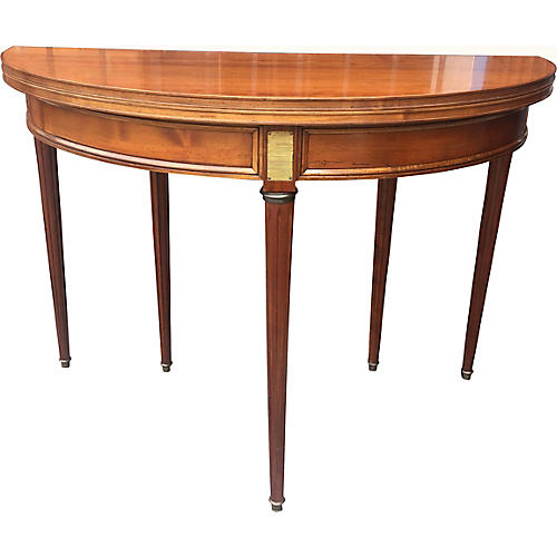 French Cherry Demilune Table