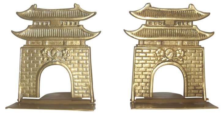 Pagoda Bookends
