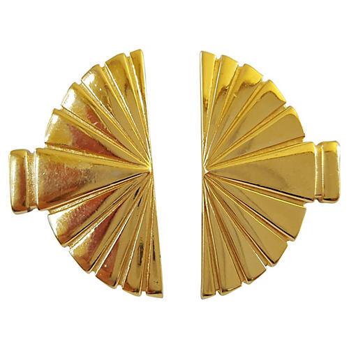 Karl Lagerfeld Fan Earrings