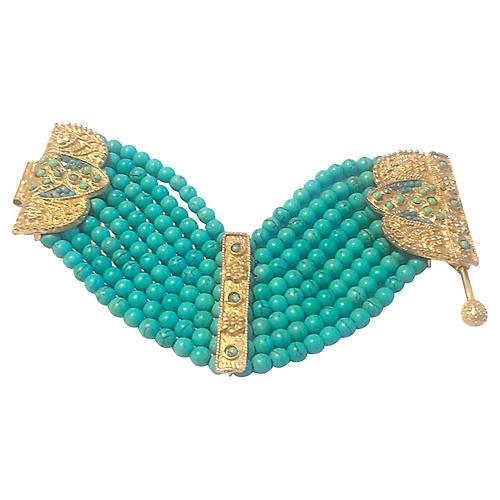 Howlite Bead Bracelet