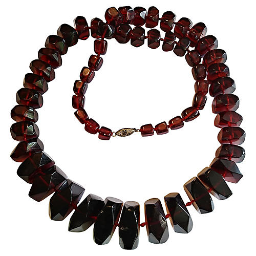 XL Cherry Amber Copal Necklace