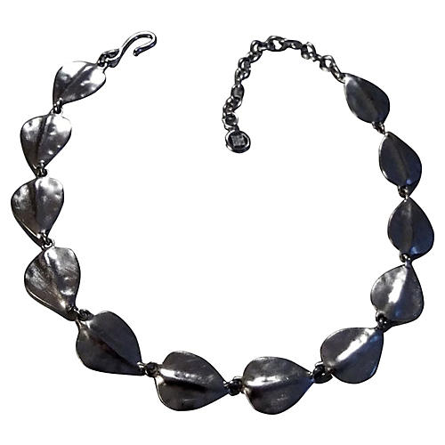 Givenchy Silver Leaf Necklace