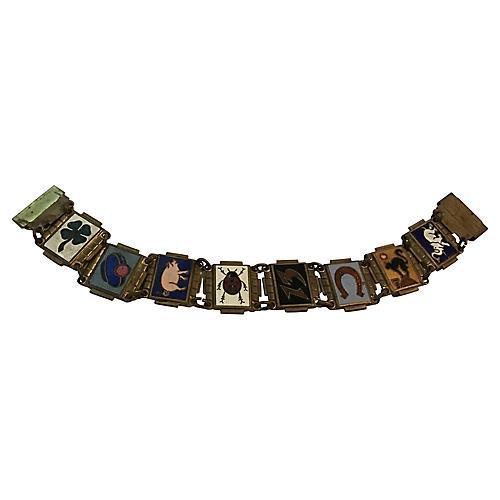 Art Deco Good Luck Bracelet