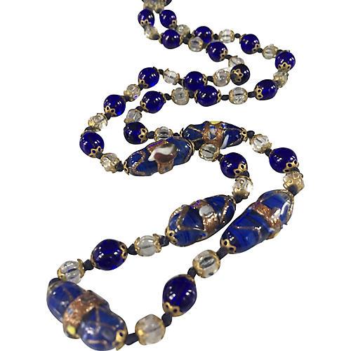 Deco Venetian Glass Necklace