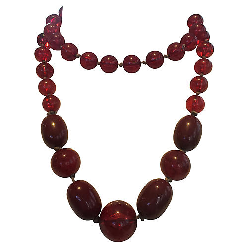 Simulated Amber Necklace