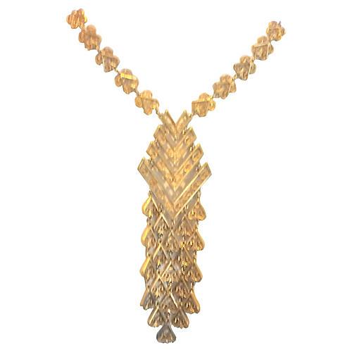 1960s Filigree Dangle Necklace